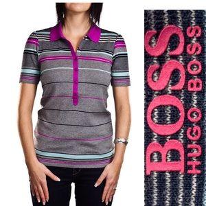 Boss Hugo Boss golf shirt Col. Grey/Purple Size S
